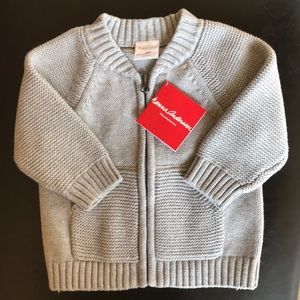 NWT cotton zip cardigan sweater by Hanna Andersson